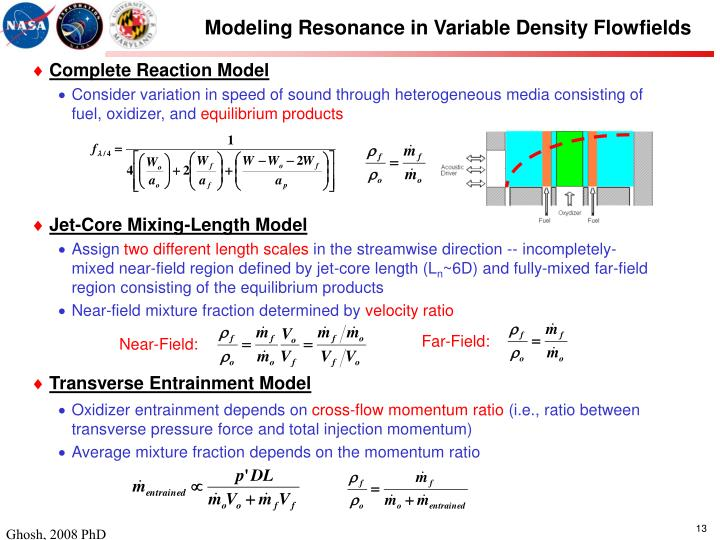 Modeling Resonance in Variable Density Flowfields