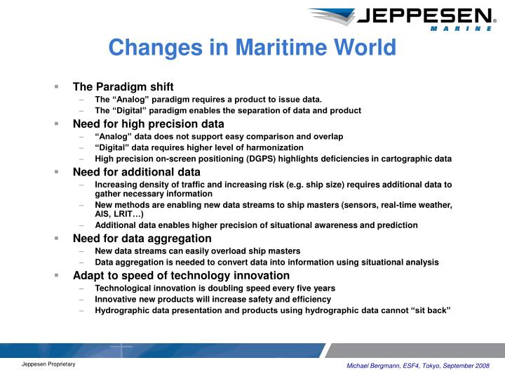 Changes in Maritime World