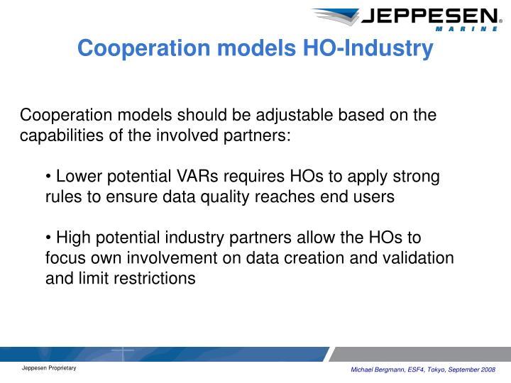 Cooperation models HO-Industry