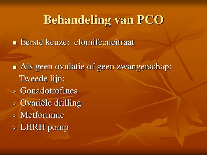 Behandeling van PCO