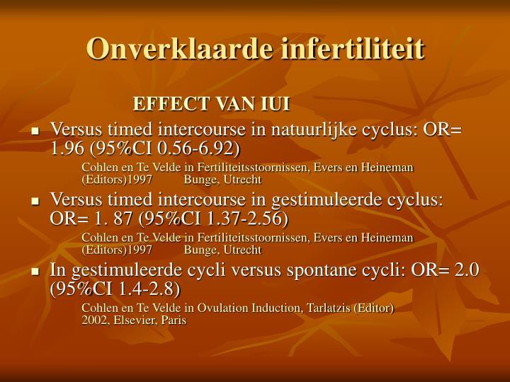 Onverklaarde infertiliteit