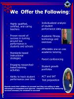we offer the following