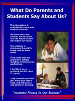 what do parents and students say about us