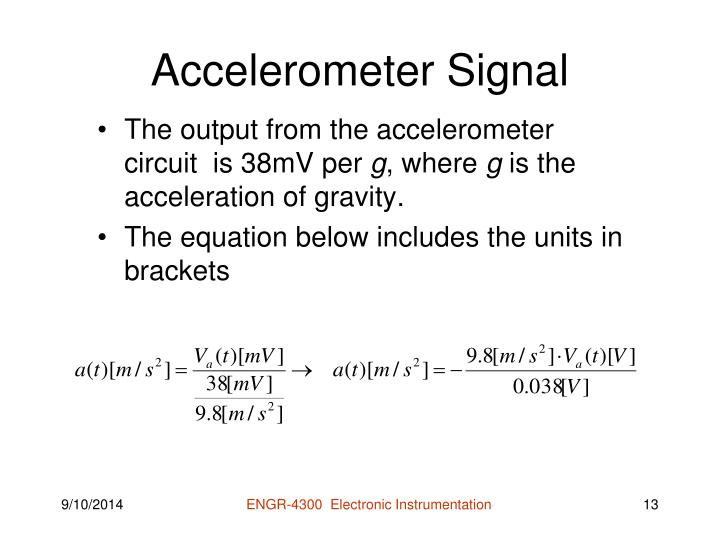 Accelerometer Signal