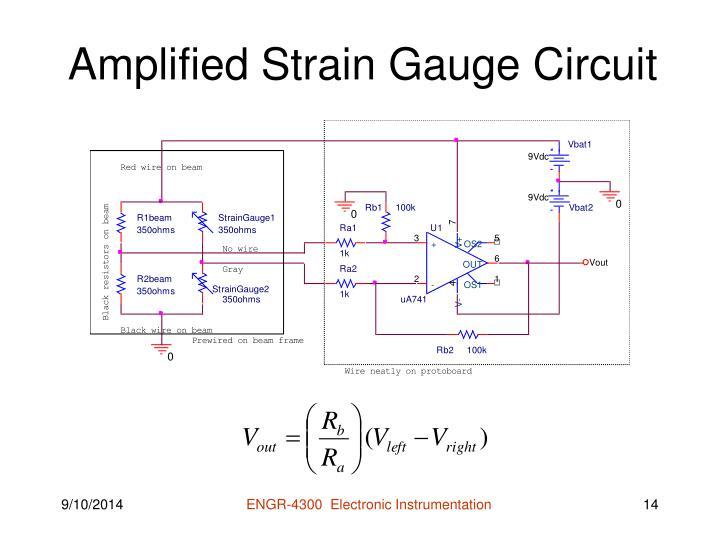 Amplified Strain Gauge Circuit