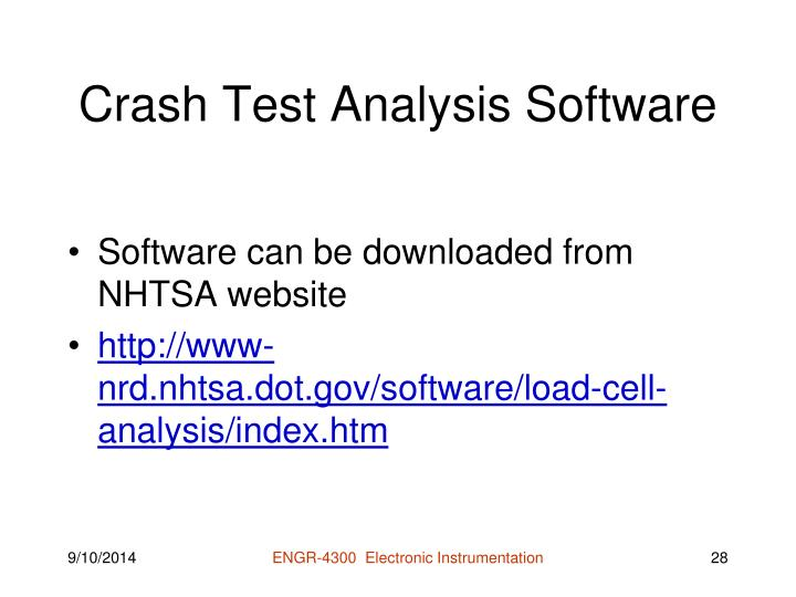 Crash Test Analysis Software