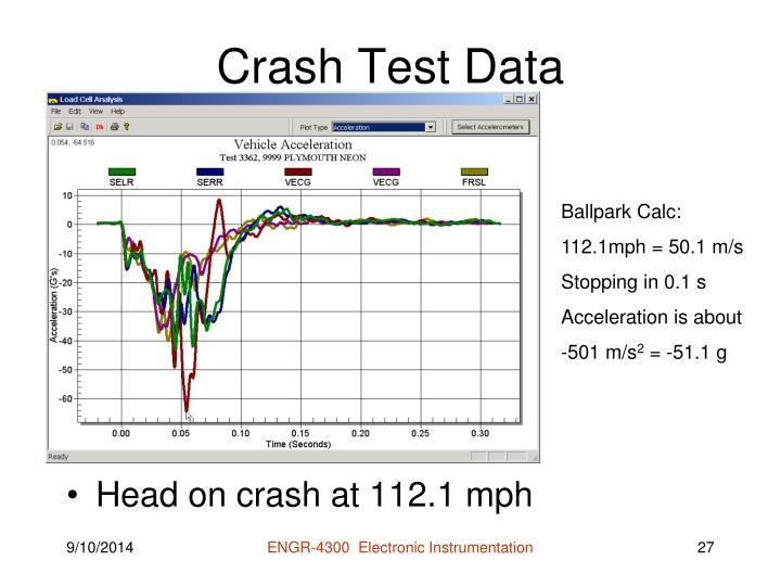 Crash Test Data
