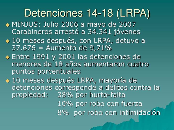 Detenciones 14-18 (LRPA)