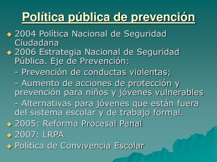 Política pública de prevención