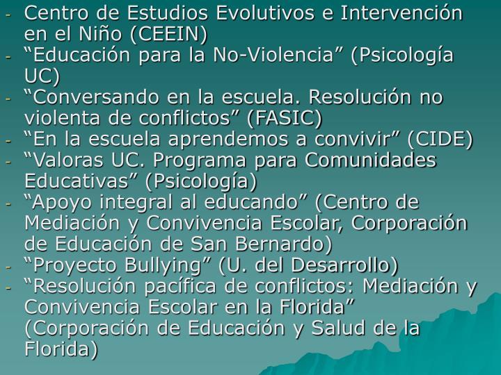 Centro de Estudios Evolutivos e Intervención en el Niño (CEEIN)