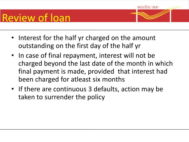 Review of loan