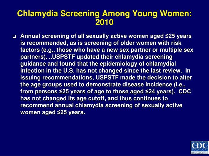 Chlamydia Screening Among Young Women: 2010