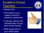 excellent clinical teachers