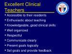 excellent clinical teachers1