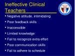 ineffective clinical teachers1