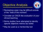 objective analysis