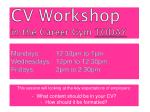 cv workshop in the career gym today