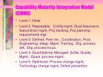 capability maturity integration model cmmi