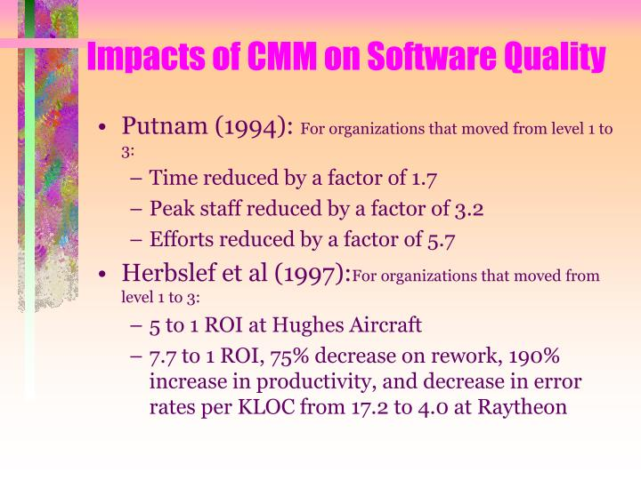 Impacts of CMM on Software Quality