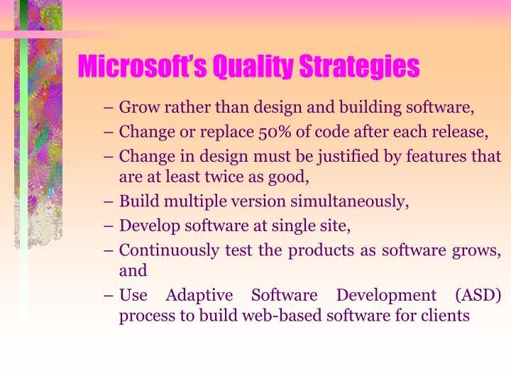 Microsoft's Quality Strategies