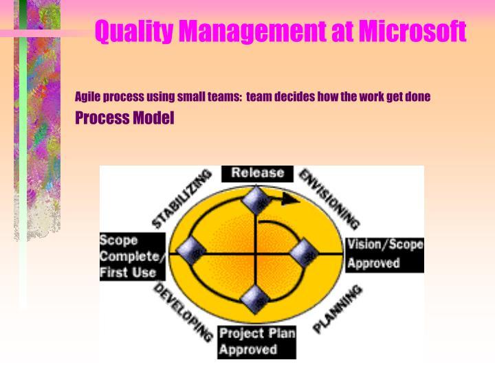 Quality Management at Microsoft