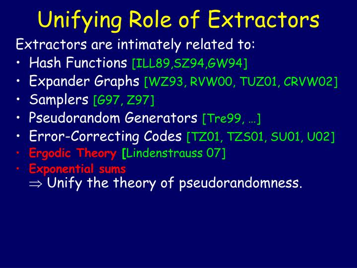 Unifying Role of Extractors