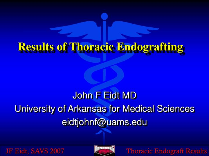 results of thoracic endografting n.