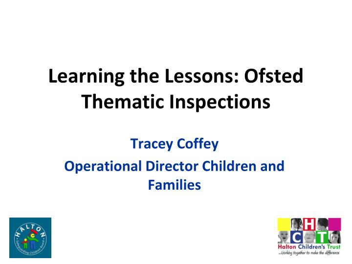 learning the lessons ofsted thematic inspections n.