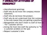 7 unhealthy attitudes of disrespect