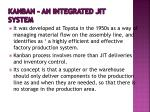 kanban an integrated jit system