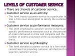 levels of customer service