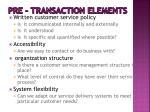 pre transaction elements