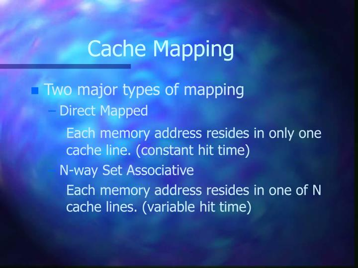 Cache Mapping