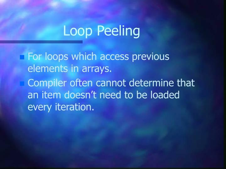 Loop Peeling