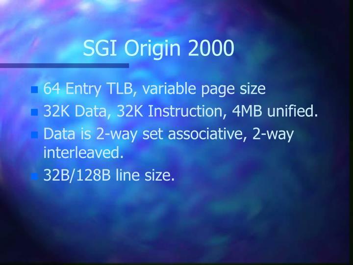 SGI Origin 2000