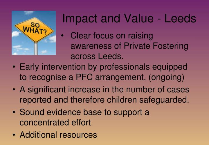 Impact and Value - Leeds