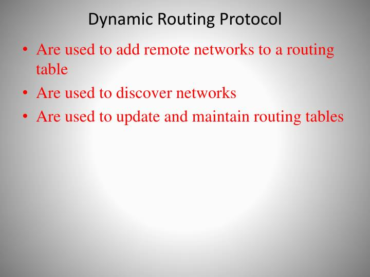 Dynamic Routing Protocol