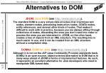 alternatives to dom
