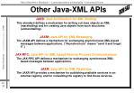 other java xml apis
