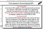 tree based vs event based api