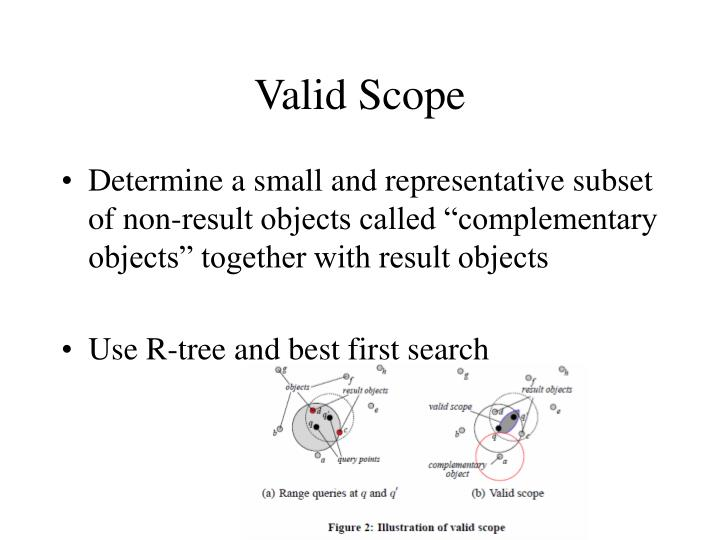 Valid scope