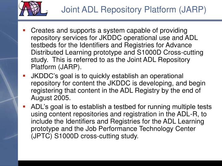 Joint ADL Repository Platform (JARP)