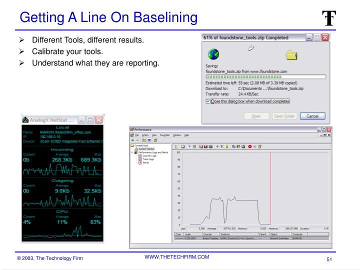 Getting A Line On Baselining