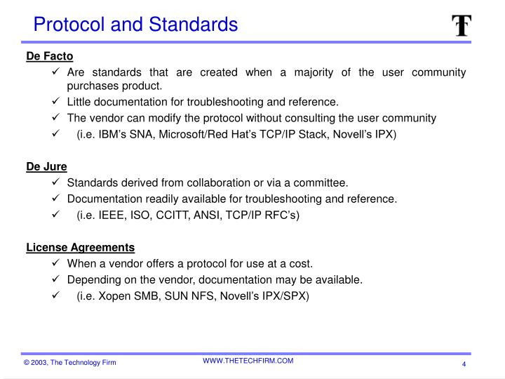 Protocol and Standards