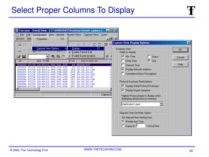 Select Proper Columns To Display
