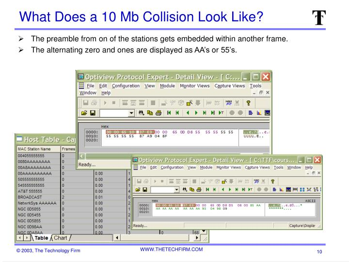 What Does a 10 Mb Collision Look Like?