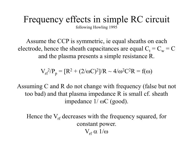 Frequency effects in simple RC circuit
