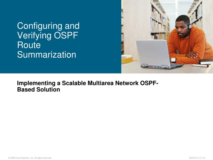 configuring and verifying ospf route summarization n.