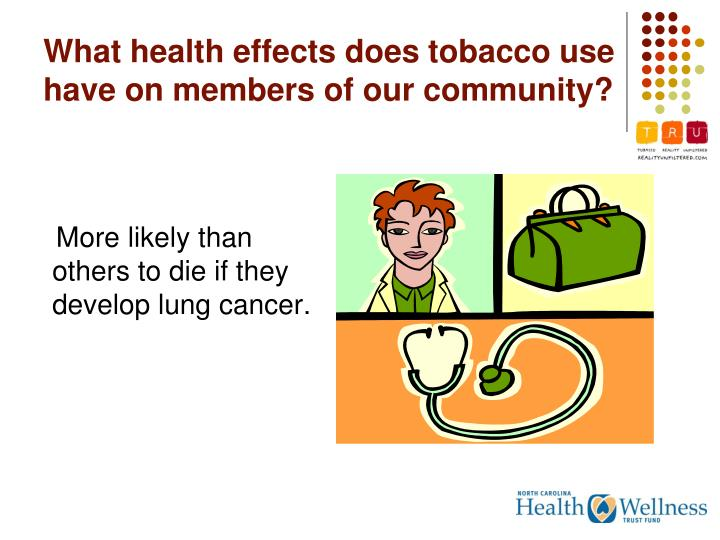 What health effects does tobacco use have on members of our community?