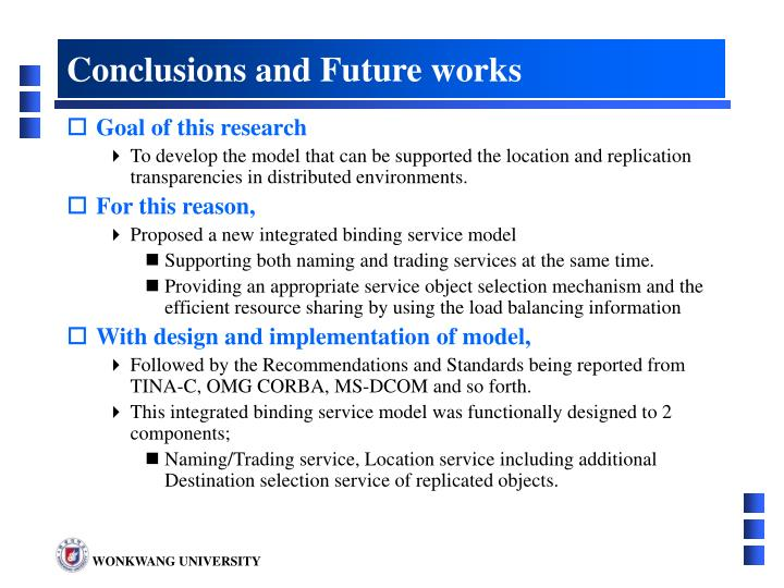 Conclusions and Future works